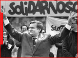 Polish Solidarity demonstration with Lech Walesa, Corbis